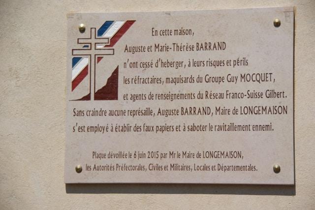 plaquette commemorative commune